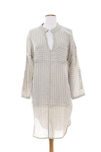 Robe mi-longue beige ANTONELLO SERIO pour femme