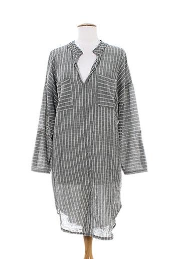 Robe mi-longue gris ANTONELLO SERIO pour femme