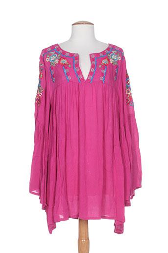 avani del amour tuniques femme de couleur rose