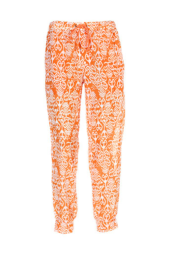 charlie joe pantalons femme de couleur orange
