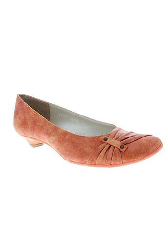 fidji chaussures femme de couleur orange