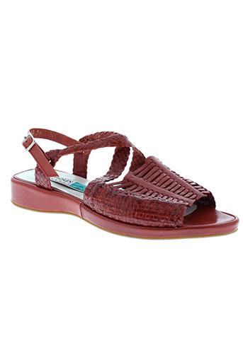 arnoux sandales et nu et pieds femme de couleur rouge