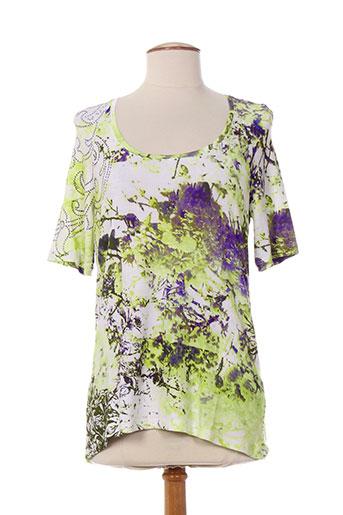 daneva t-shirts femme de couleur vert