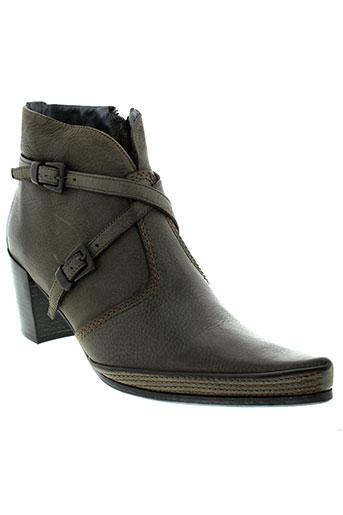 alain et bastiani boots femme de couleur gris