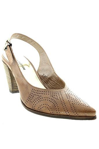 alain bastiani chaussures femme de couleur beige
