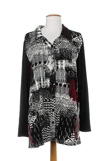 elie bonnie chemises femme de couleur noir