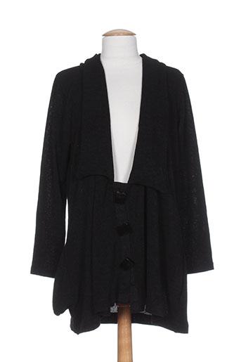 elie bonnie vestes femme de couleur noir