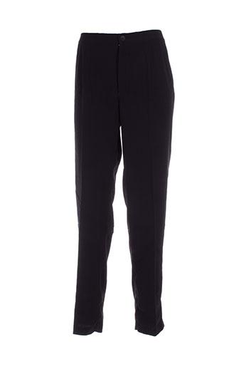 elie bonnie pantalons femme de couleur noir