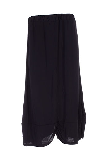 Jupe mi-longue noir ELIE BONNIE pour femme