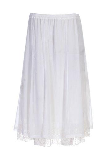 elie bonnie jupes femme de couleur blanc