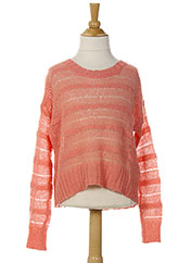 Pull col rond rose BENETTON pour fille seconde vue
