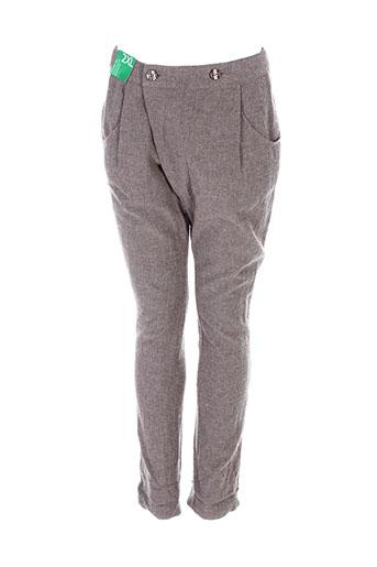 Pantalon chic gris BENETTON pour fille