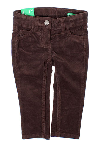 Pantalon casual marron BENETTON pour fille