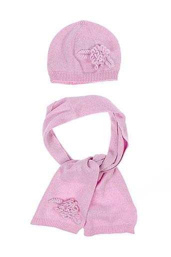 benetton chapeaux et bonnets fille de couleur rose