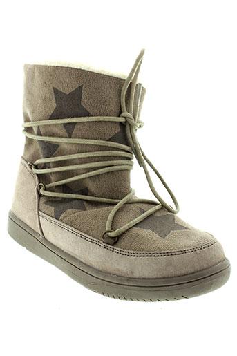 benetton chaussures fille de couleur beige