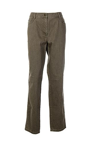 brandtex pantalons femme de couleur marron