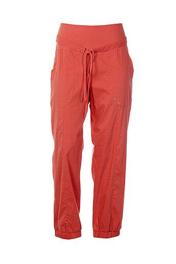 bai amour pantalons femme de couleur orange