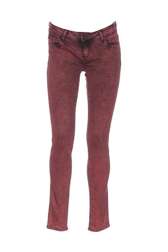 school et rag pantalons et decontractes femme de couleur rouge