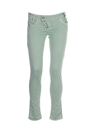bray steve alan pantalons femme de couleur vert