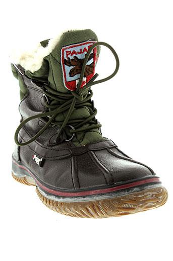 pajar boots garcon de couleur marron