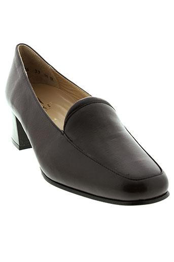 hoki chaussures femme de couleur marron