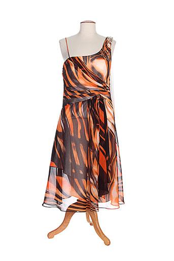 creatif paris robes femme de couleur orange
