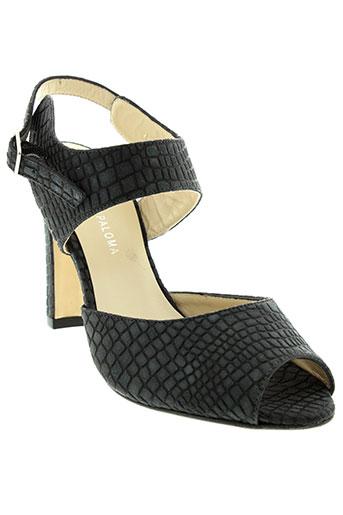 studio et paloma sandales et nu et pieds femme de couleur noir