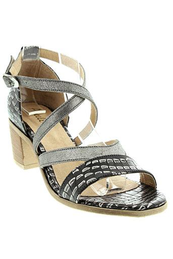 axell sandales et nu et pieds femme de couleur noir