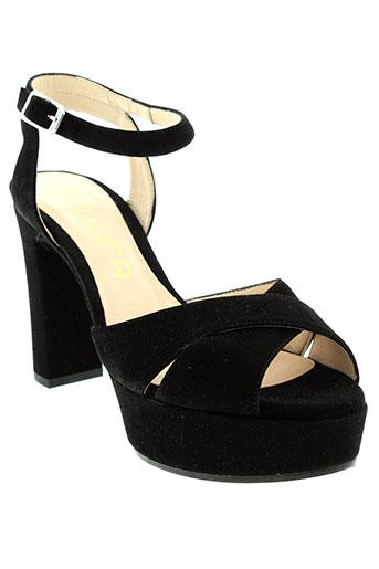unisa sandales et nu et pieds femme de couleur noir