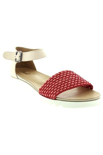 axell sandales et nu et pieds femme de couleur rouge