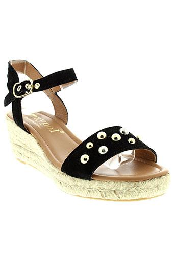 maypol sandales et nu et pieds femme de couleur noir