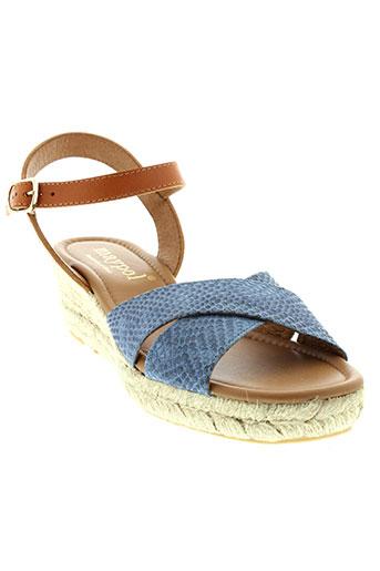 maypol sandales et nu et pieds femme de couleur bleu