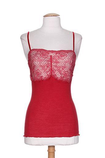 fraly t-shirts femme de couleur rouge
