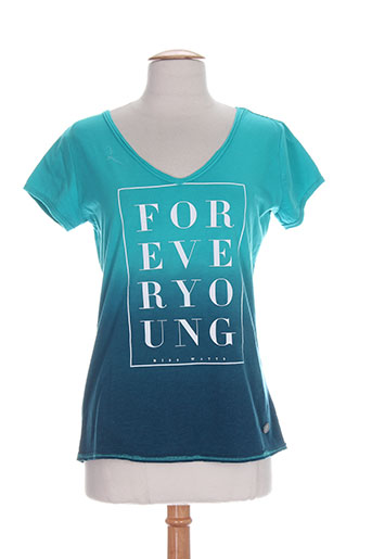 watts chemises femme de couleur bleu