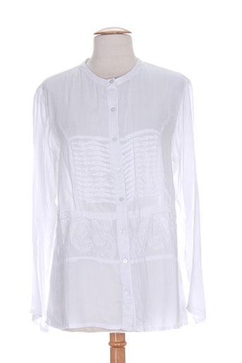 thalassa chemises femme de couleur blanc