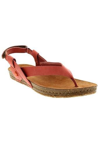 art sandales et nu et pieds femme de couleur orange
