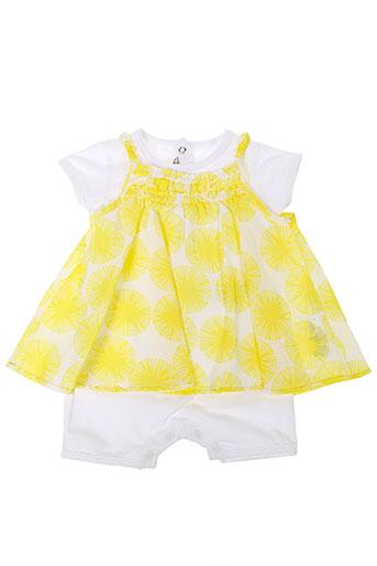 absorba combinaisons fille de couleur jaune