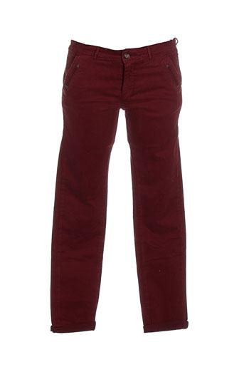 hod pantalons femme de couleur rouge