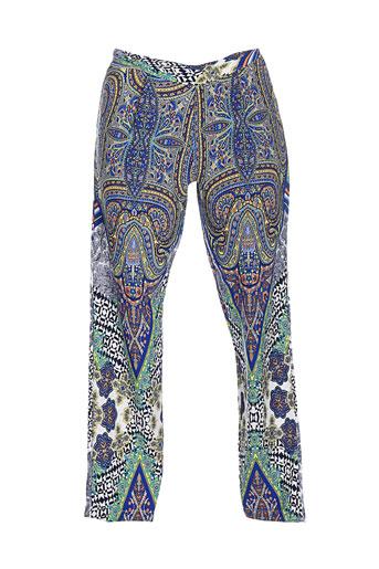 fracomina pantalons femme de couleur bleu