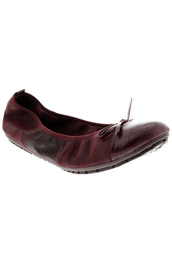 226 et shoes ballerines femme de couleur rouge