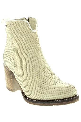 freeman et t et porter boots femme de couleur beige