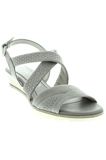 marco et tozzi sandales et nu et pieds femme de couleur gris