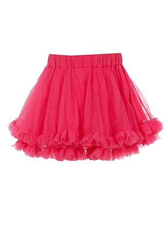 lili et gaufrette jupes et mi et longues fille de couleur rose
