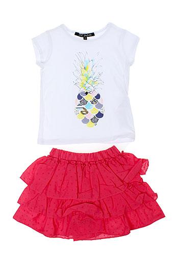 lili et gaufrette t et shirts et shorts fille de couleur rose