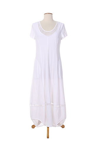 mc et planet robes et longues femme de couleur blanc