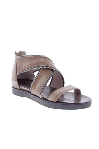 janet et janet sandales et nu et pieds femme de couleur marron