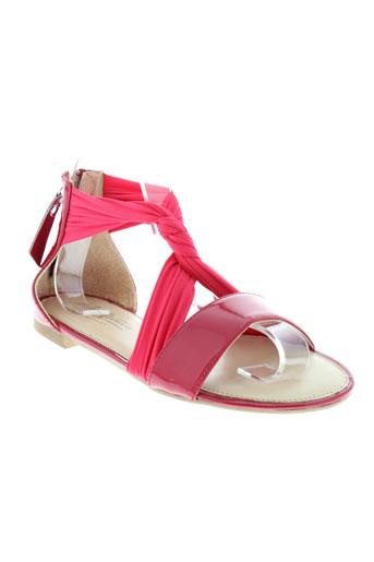 jb et martin sandales et nu et pieds femme de couleur rouge