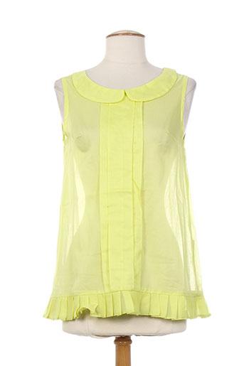 bhatti chemises femme de couleur jaune