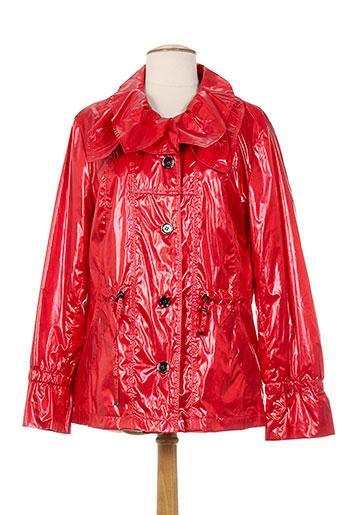 concept k manteaux femme de couleur rouge