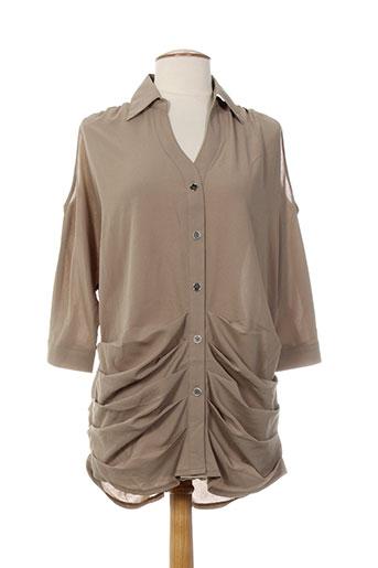 tricotonic chemises femme de couleur marron